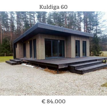 Prijs van een zelfbouwkit houtskeletbouw woning 60 m2